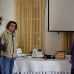 To μέλος του ΔΣ ΙΛΦ κ. Β Ηλιάδης με τον γιατρό της Χάλκης κ. Γ. Καζουλάκη & την νοσηλεύτρια του ΙΛΦ κα Μ. Αναστάση